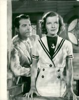 """Katharine Hepburn together with Fred Mc Murray in the movie """""""" At 19 Years """"."""