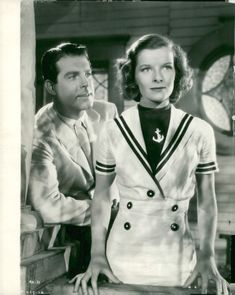 "Katharine Hepburn together with Fred Mc Murray in the movie """" At 19 Years ""."