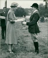 Princess Royal with Miss. V. Machin-Goodall
