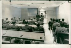 American federal agents being instructed.