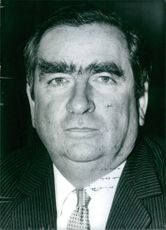 Close up photo of Denis Healey. 1976