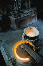 Article image from a German steelworks.