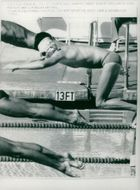 OS in Los Angeles. Bengt Baron in 100m butterfly men in Los Angeles