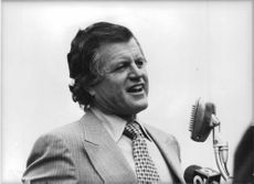 "Edward Moore ""Ted"" Kennedy speaking."