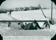 The Anti-aircraft warfare being trained in snow, 1945.