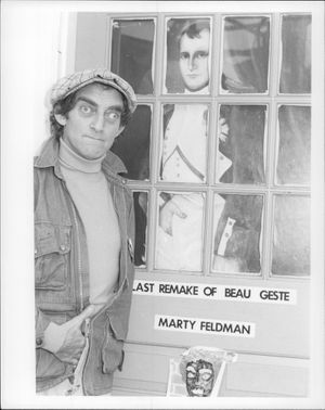 The British comedian, director and actor Marty Feldman.