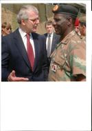 National Lottery: British Prime Minister, John Major, takes with Major General G. L. Ramano.G