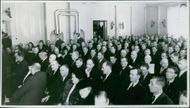 Participants at the Västerbotten County League meeting in connection with the RLF's 20th anniversary. - 28 February 1948