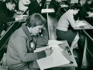Åsa Frej, one of the exams in the trade fair's writing room
