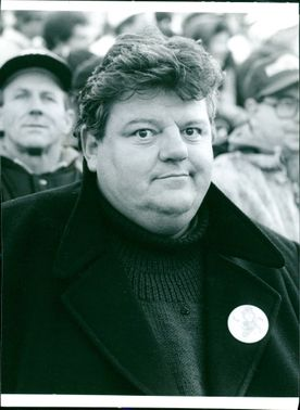 Scottish actor Robbie Coltrane in the TV-documentary Coltrane in a Cadillac