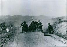 Soldiers in action. 1941.