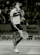 Tomas Smid during Stockholm Open 1983