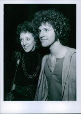 John Rubinstein with his sister during an event.
