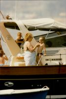 """Daniel Ducret's mother Mauy, along with the granddaughter aboard """"Louine""""."""