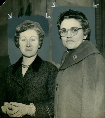 Mrs Winifled Olive Green with Mrs Betty Holliday.