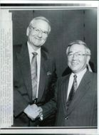 Lee Iacocca with shoichiro toyoda.