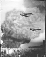 Dive-bombing Flying Barrels in the military exercise.