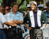 Golfers Colin Montgomerie and Jesper Parnevik during Scandinavian Masters 1995