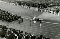 The opening ceremony in the stadium before the Olympic Games