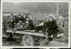 REFUGEES due to WAR IN NORWAY, April 1940