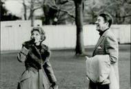 US President Ronald Reagan and his wife Nancy ready for a helicopter ride from the White House to Camp David