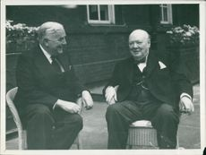 Winston Churchill with Mr. Menzies