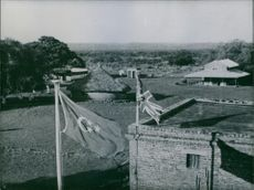 A England flag and another flag. 1940