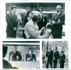 Scenes from the movie The Puppet Masters with Eric Thal, Julie Warner, Will Patton, Richard Belzer and Donald Sutherland, 1995.