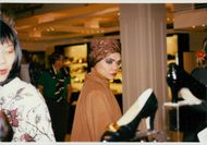 Eartha Kitt is shopping at Harrods