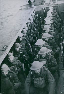 Commandos of the newly designed armored disembarkation boats.
