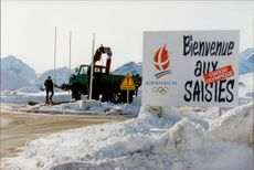Welcome to the Olympic Stadium for the Winter Olympics in Albertville in 1992