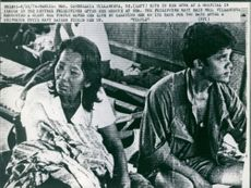 Shipwreck survivors admitted in a hospital in Iloilo, Philippines.  - Jun 1974
