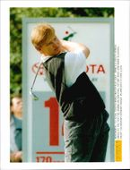 Golf player Ernie Els during the semifinal against José María Olazábal in Toyota World Match Play Golf 1994