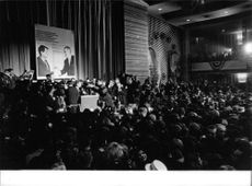 """Robert Francis """"Bobby"""" Kennedy in a conference."""