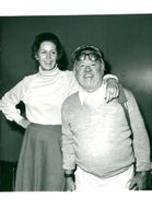 Mickey Rooney with his 8th wife Jan at Heathrow Airport before departing to the United States