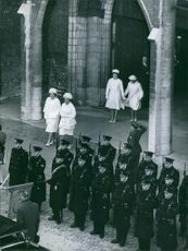During the funeral of Queen Wilhelmina of the Netherlands, 1962.