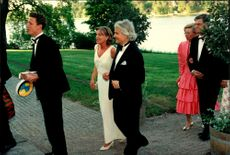Guests arrive at Crown Princess Victoria and her friend Caroline Severin's student exams festival at Ulriksdal Palace
