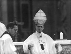 Pope Paul VI with a man.