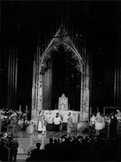 Inside scene of cathedral.