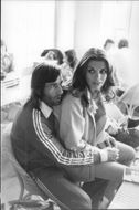 Tennis player Ilie Nastase together with his wife Dominique during the Wimbledon Championship