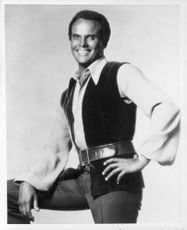 Harry Belafonte smiling.