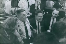 Raoul Salan having fun with other people, 1962.