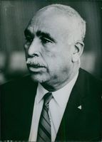 1969 Anguillan Personalities Close up of spokesman in the United Nations for the breakaway island of Anguilla Jeremiah Gumbs.