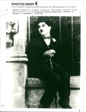 British actor Charlie Chaplin in