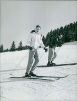 Princess Maria Gabriella enjoying skiing.