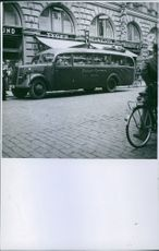 Private-Express Dresden says on this bus, with German soldiers on their way to the front. 1941