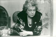 "Simone Signoret as Madame Rosa in the movie ""With life in front of him"""