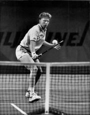 Boris Becker in an unknown contest.
