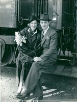 Actress Grace Moore and her husband Valentín Parera