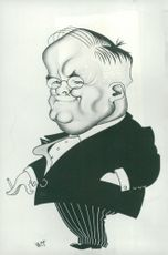 Soviet Foreign Minister Molotov in a caricature of the French artist Maudouit